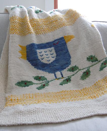 farmhouse yarn blanket Ördek İşlemeli Bebek battaniyesi
