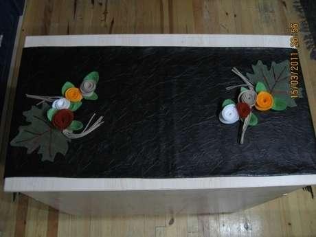 Çiçek tutamının runner üzerinde duruşu