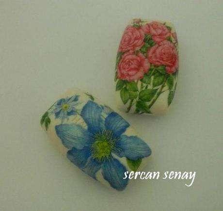 çiçekli sabunlar