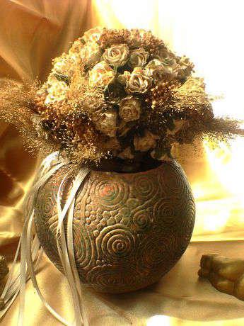 Sucuk tekniği seramik vazo