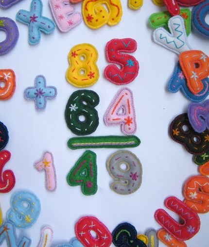 Embroidered Felt Numbers
