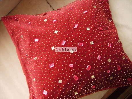 boncuk işlemeli yastık