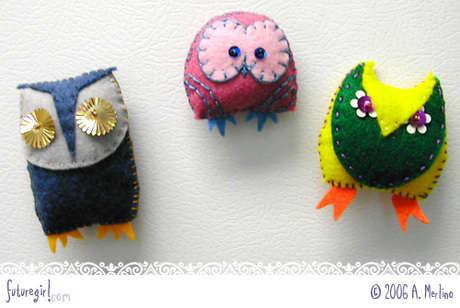 owls sequins o El Yapımı Keçe Yastık ve Şallar