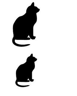 keçe kedi şablonu