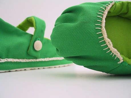 el yapımı kumaş ayakkabı