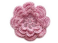 pembe çiçek motifi
