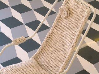 Çiçekli Örgü Sandalye Modeli