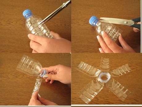 pet şişeden çiçek yapımı 1
