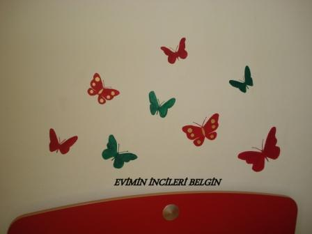 Duvar Boyama Kelebekler