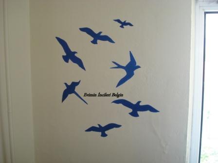 Duvar Boyama Kuşlar