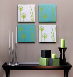 Scrapbook kagitlarindan dekoratif tablolar