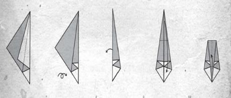 origami tuna kuşu adım-2