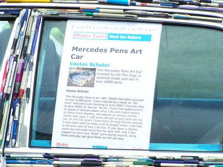 kalemle kaplanmış araba