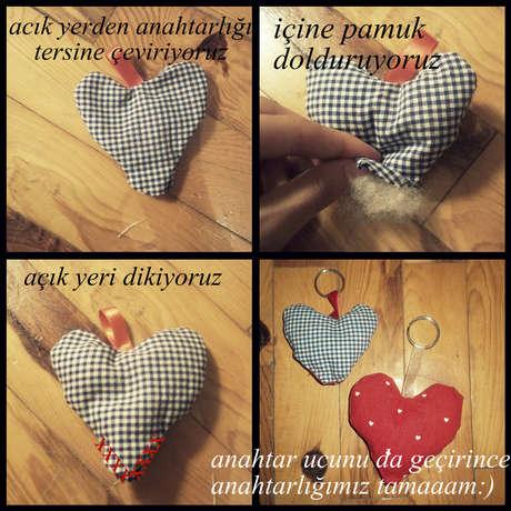 kalpli kumaş anahtarlık