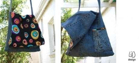 как сшить сумку из старых джинсов фото.