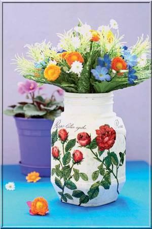 kavonoz vazo El işi ev süsleri
