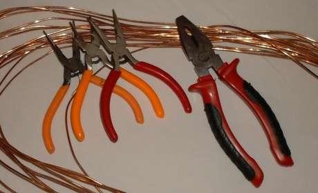 bakır tel ve aletler