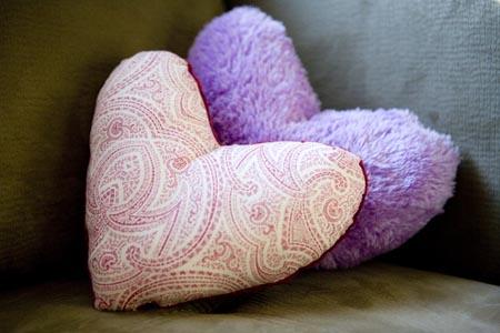 kalp yastık