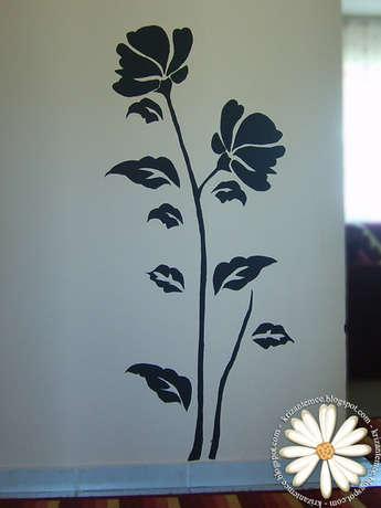 Girişe kocaman bir çiçek