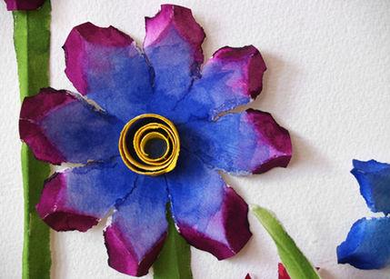 boyalı çiçek