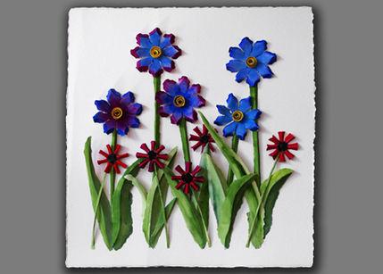 kağıt çiçek tablosu
