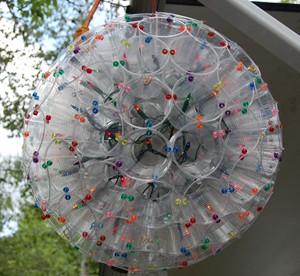 plastik bardaklardan lamba