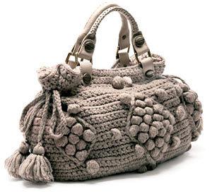 çok güzel bir örgü çanta