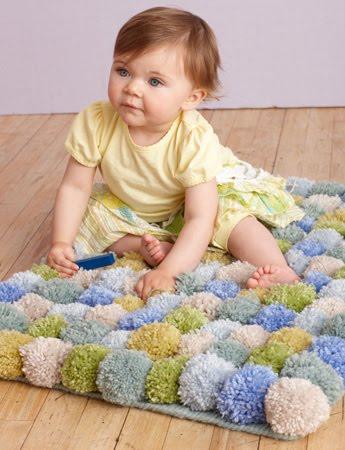 Bebekler İçin Ponpon Oyun Halısı