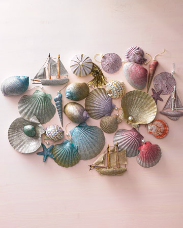 deniz kabuklarından süsler