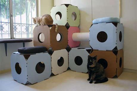 eğlenceli kedi evi