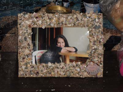 deniz kabuklu çerçeve