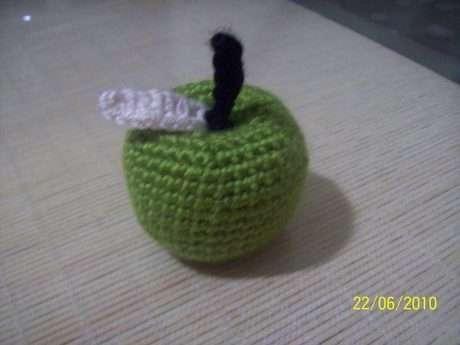 Amigurumi yeşil elma ,elma severlere .Ben kırmızı elmadan çok yeşil elma severim,ya siz?