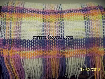 Alize Angora Gold Batik ve Angora Gold Düz ipten yapıldı İskoç Şal.Annem gelinine yaptı,güle güle kullansın...