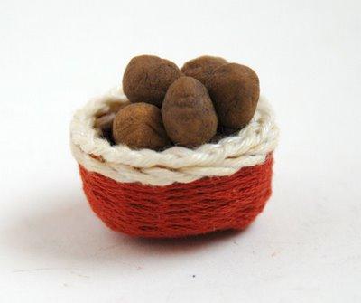 minyatur patates sepeti