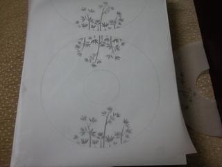 desenimi bilgisayarda hazırlayıp (isteyen eliylede çizebilir) aydınger kağıdına çıkış aldım.