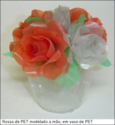 pet şişeden güller