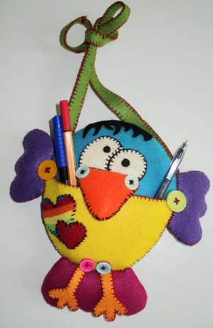 çocuklar için yapımı kolay sevimli kalemlik