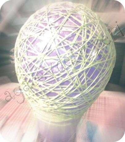 balonumuzu ve ipimizi tutkallayarak istediğimiz sıkılıkta sarıyoruz