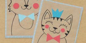 Kraft kağıdından çocuklar için hediye paketleri