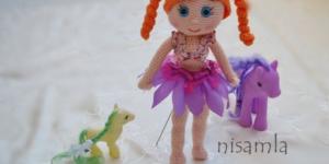 Deniz kızı kostümlü amigurumi bebek