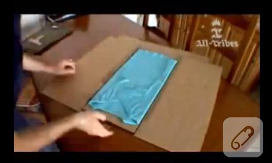 kartondan tişört katlama aleti yapımı