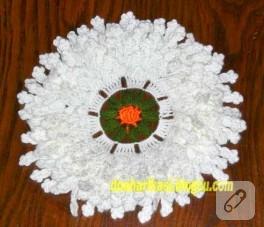 Lif modelleri; örgü çiçek lif