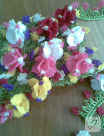 tığ oyası çiçek