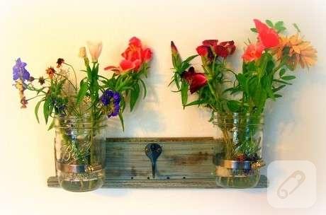 Tahta çiçek Askılığı 10marifetorg