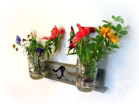 tahta çiçek askılığı