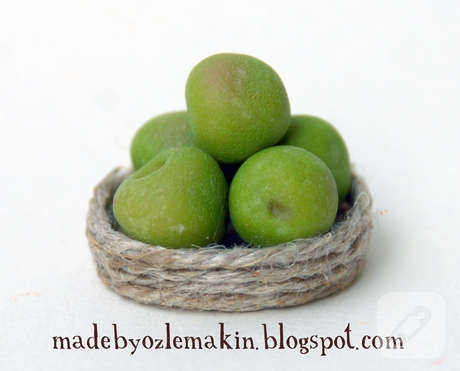 polimer-kil-fimo-minyatur-yesil-elma