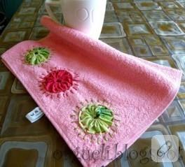 Mutfak havlusuna yoyolu havlu kenarı