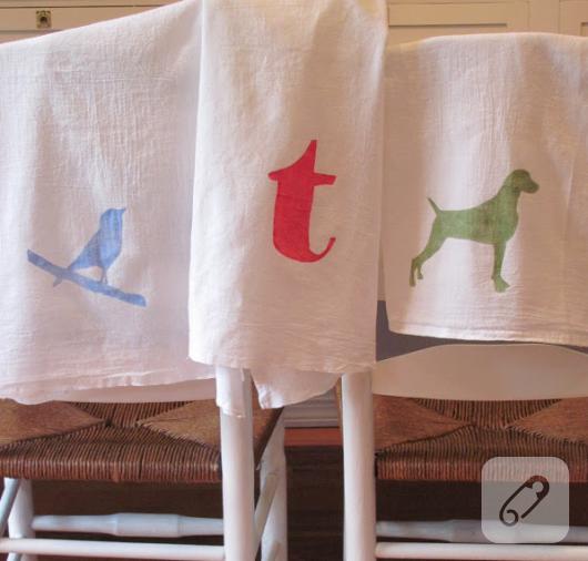 kumaş boyama havlu kenarı
