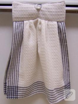 Lacivert beyaz mutfak havlusu