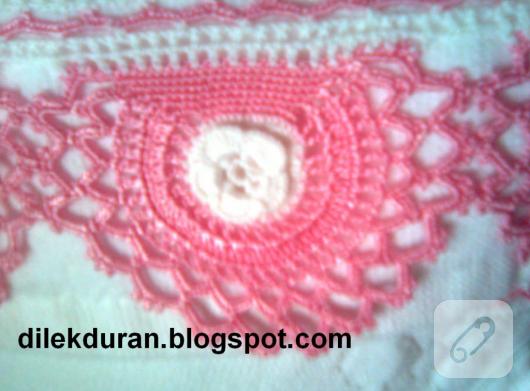dantel havlu kenarı